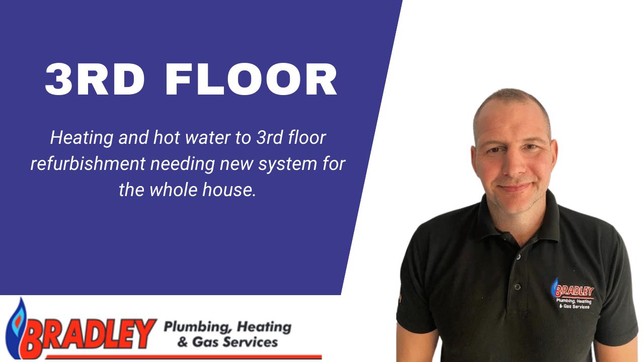 Case Study: Refurbished third floor heating